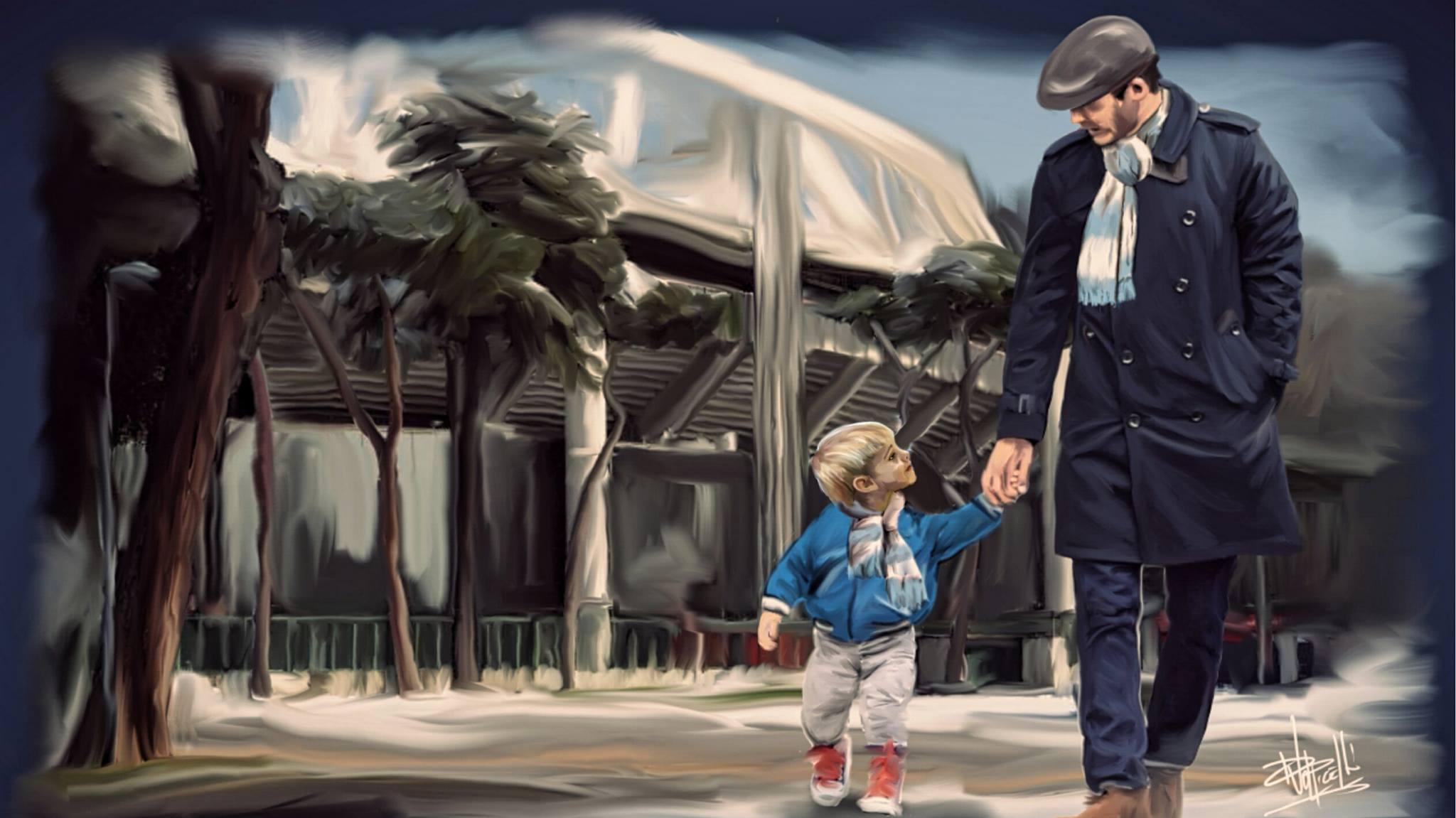 padre e figlio lazio